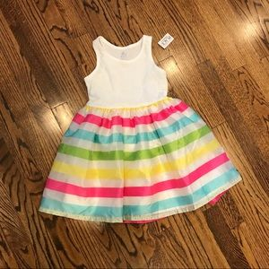 New CHILDRENS PLACE Rainbow Party Dress Small 5 6